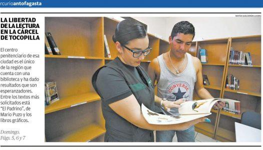 ¡La Biblioteca de la cárcel de Tocopilla se tomó la portada de El Mercurio de Antofagasta!
